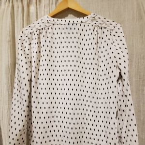 Cynthia Rowley Tops - Ladies cream and black blouse, size M